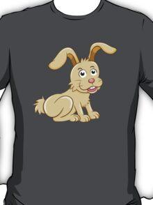 Funny yellow cartoon rabbit T-Shirt