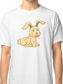 Funny yellow cartoon rabbit Classic T-Shirt
