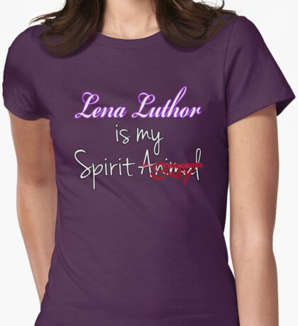 Lena Luthor is my Spirit Gay Womens Fitted T-Shirt