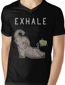 Elephant exhale funny shirt Mens V-Neck T-Shirt
