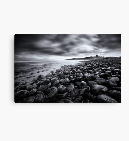 Dunstanburgh Castle, Black & White Canvas Print