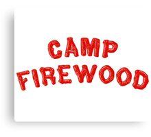 80's Summer Camp Firewood Canvas Print