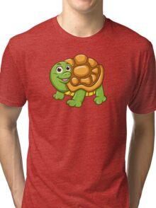 Friendly cartoon turtle Tri-blend T-Shirt