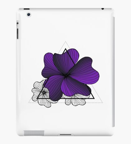 violet flowers in triangle iPad Case/Skin