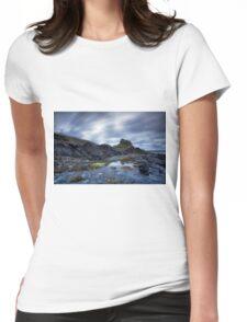Lindisfarne Castle Dawn Womens Fitted T-Shirt