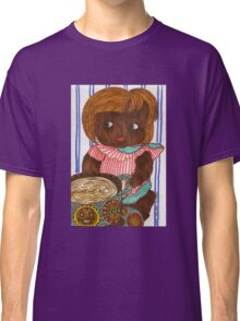 African Doll Drinking Coffee Classic T-Shirt