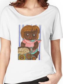African Doll Drinking Coffee Women's Relaxed Fit T-Shirt