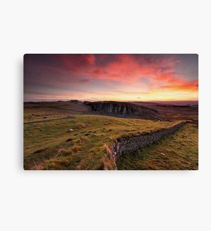 Steel Rigg Sunrise Canvas Print