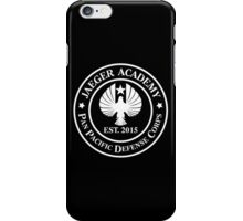 Jaeger Academy logo in white! iPhone Case/Skin