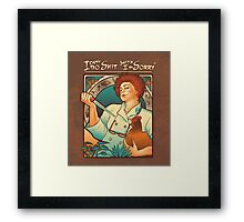 Red Nouveau Framed Print