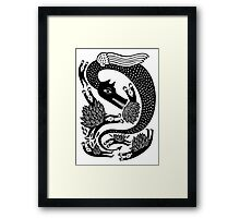 And the dragon Framed Print