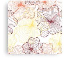 orange flowers print Canvas Print