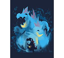 totodile, croconaw and feraligart evolutions cool design Photographic Print