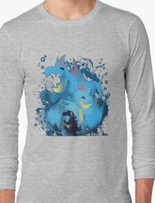 totodile, croconaw and feraligart evolutions cool design Long Sleeve T-Shirt
