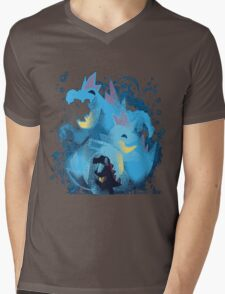totodile, croconaw and feraligart evolutions cool design Mens V-Neck T-Shirt