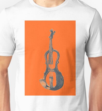 Drawing of electric violin. Illustration.  Unisex T-Shirt