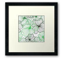 green flowers pattern Framed Print