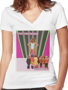 Face your fate Women's Fitted V-Neck T-Shirt