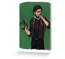cartoon booker dewitt Greeting Card