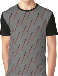 Black-Patterned-Handle Red Wand Graphic T-Shirt