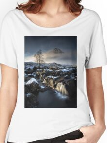 Buachaille Falls at Glencoe Women's Relaxed Fit T-Shirt