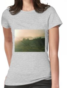 Trees and mountains Womens Fitted T-Shirt