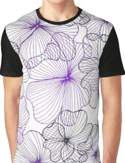 violet flowers pattern Graphic T-Shirt