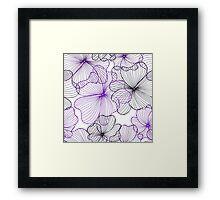 violet flowers pattern Framed Print