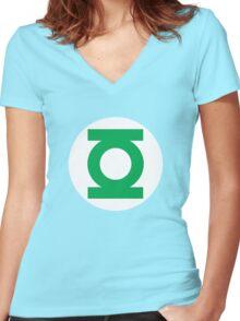 Green Lantern Women's Fitted V-Neck T-Shirt