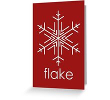 Flake 2 Greeting Card