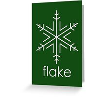 Flake 1 Greeting Card