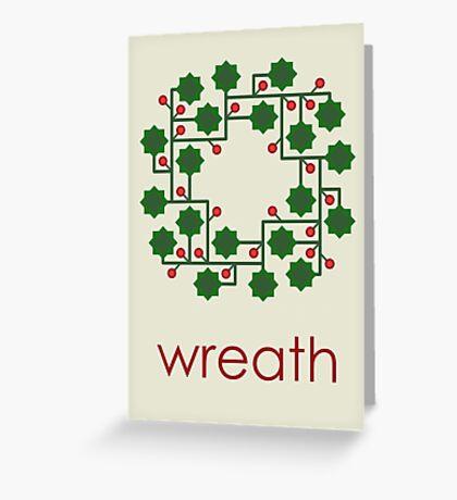 Holly Wreath Greeting Card