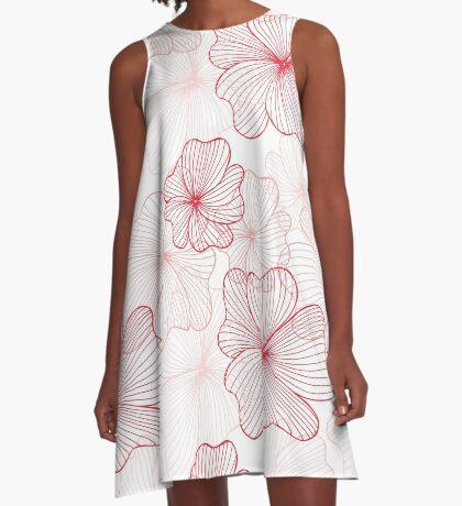 pink flowers pattern A-Line Dress