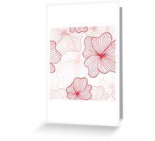 pink flowers pattern Greeting Card