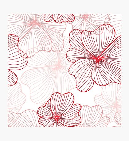 pink flowers pattern Photographic Print