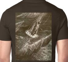 Gustave Doré, Rime of the Ancient Mariner, I Had Done a Hellish Thing, Crows Nest, Sailing Ship. Unisex T-Shirt