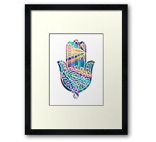 Rainbow Holographic Hamsa Framed Print