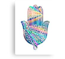 Rainbow Holographic Hamsa Metal Print