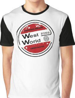 Westworld Retro Logo Round Graphic T-Shirt