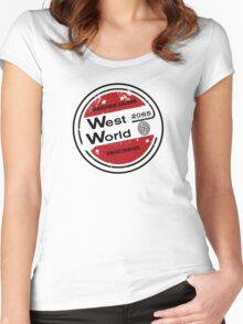 Westworld Retro Logo Round Women's Fitted Scoop T-Shirt