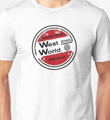 Westworld Retro Logo Round Unisex T-Shirt