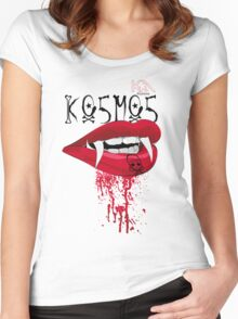 Lips  Women's Fitted Scoop T-Shirt