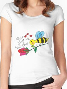 Bee My Valentine  Women's Fitted Scoop T-Shirt