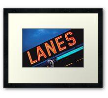 Neon Lanes Framed Print