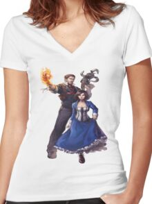 Bioshock realistic and cool design Women's Fitted V-Neck T-Shirt
