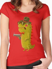Dino bandito Women's Fitted Scoop T-Shirt