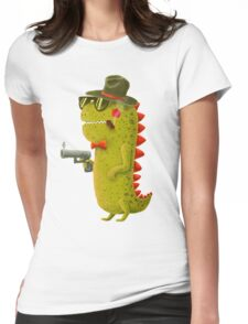 Dino bandito Womens Fitted T-Shirt