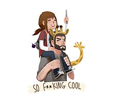 So f**king cool ellie and joel Photographic Print