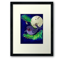 Space Whale (no text) Framed Print