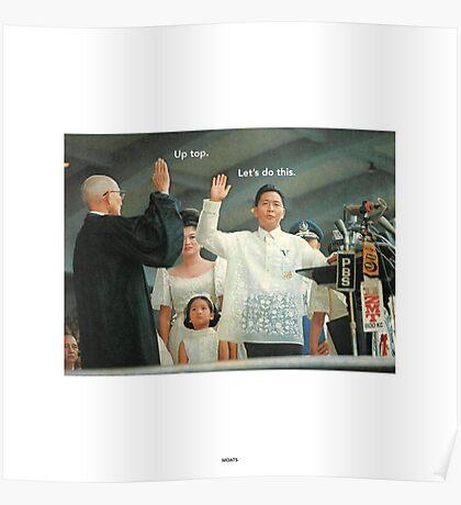 Historic Inaugural High-Fives #1, Ferdinand Marcos Poster